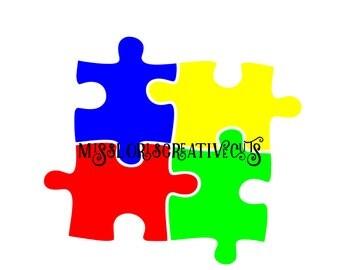 Autism puzzle awareness  SVG DFX Cut file  Cricut explore filescrapbook vinyl decal wood sign cricut cameo Commercial use