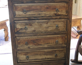 Rustic Five Drawer Dresser   (6133)