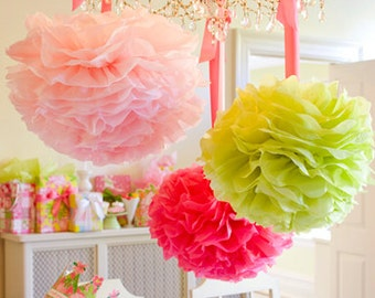 Pompom 30. Pick your own color, Party decoration, Wedding decoration, birthday, baby shower......