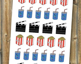 Movie Theater Planner Stickers