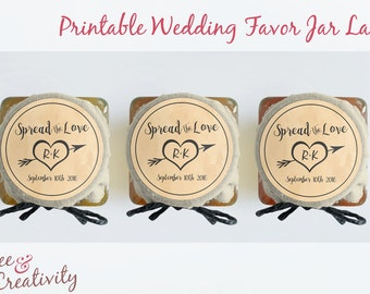 Wedding Favor Printable Jar Labels