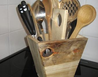 Kitchen Utensil Storage Unit - Handmade