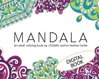 mandala coloring book, adult coloring book, intricate mandalas, large digital coloring book, coloring ebook, advanced mandala coloring book
