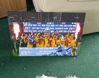 Southend United Play-Off Winners 2015 Canvas