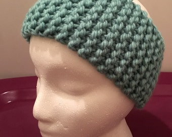 Child Knitted Headband/Ear-warmer Mint (Ages 5-10)