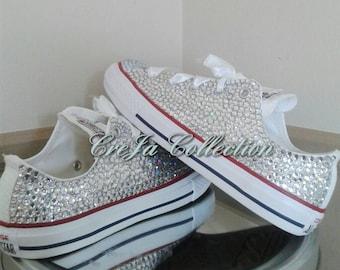 Wedding Converse, Wedding Shoes,Bling Converse, Custom Converse, Diamond Converse, Adult Converse, Kids Converse,