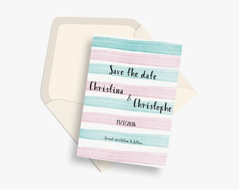Sample: Save the date cards | Watercolour save the dates  | Personalised save the dates | Bespoke watercolour save the dates | Save our date