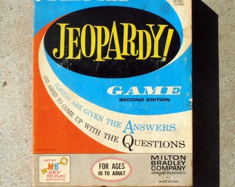 Jeopardy Game: Second Edition - 1964 - Tv Classic Game - Jeopardy Board Game - Milton Bradley Board Game - Game Night