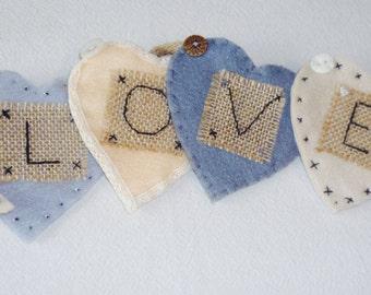 LOVE Handmade Felt Bunting