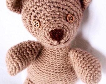 Crochet vintage style teddy bear