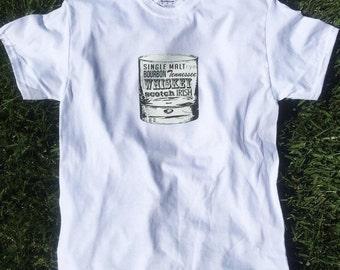 Whiskey Shirt, Whiskey T-shirt, Whiskey, Bourbon, Scotch, Rye Whiskey, Mens Shirt, White Shirt, Casual Wear, Mens Clothing