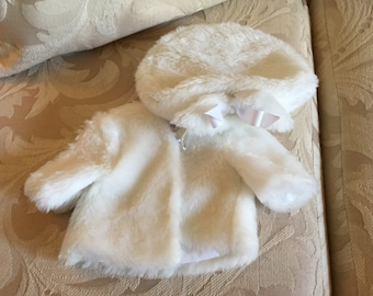 Doll coat and matching hat