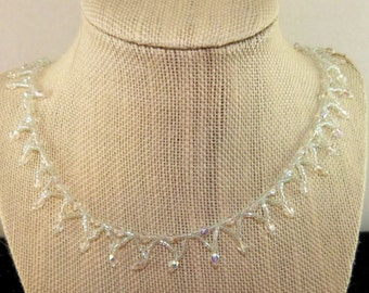 Woven Necklace Diamonds in the Snow