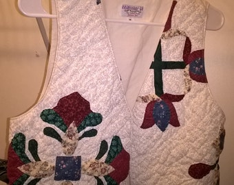 christmas quilted vest