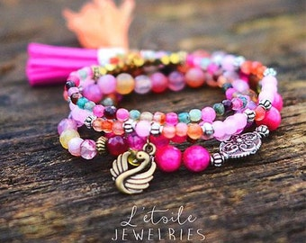 "4 bracelets ""Sweetness of summer"""