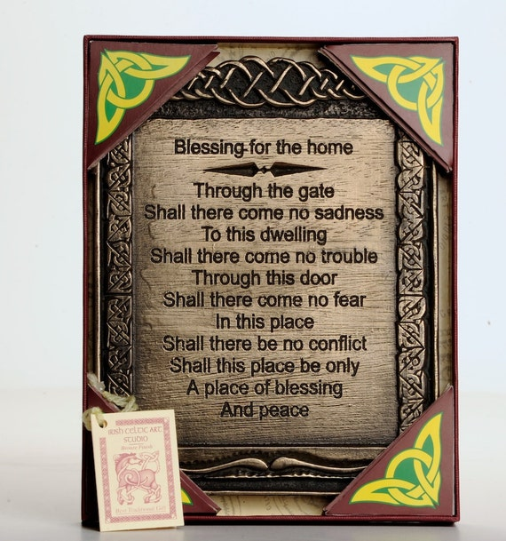 Irish Blessing Home Housewarming Gift House Warming By