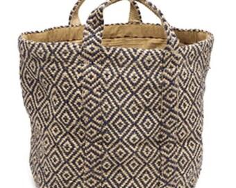 Blue geometric bag