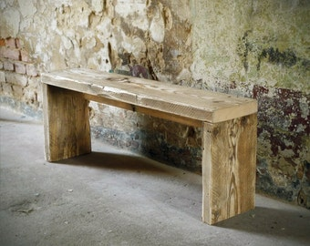 Bank of old lumber, bench seat Garden Bench