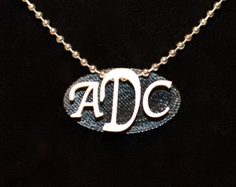 Monogram Necklace, Monogram Pendant, Initials Necklace