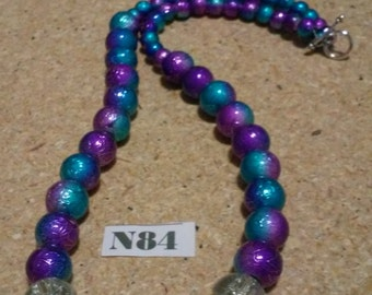 Purple / Turq Necklace