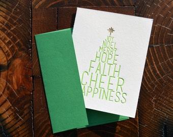 Christmas Tree Letterpress Card
