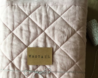 Linen Cot Quilt - Made to order