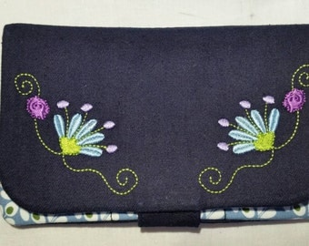 "Purse ""Flower embroidery"""