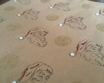 Christmas Jolly Santa Gift Wrap
