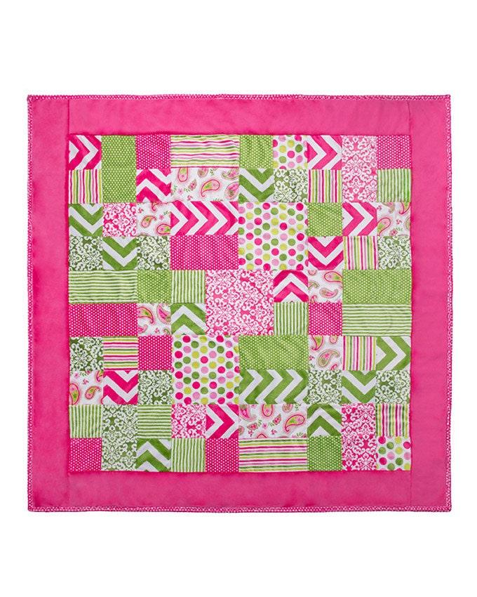 Minky Kozy Cut Girl Talk Cuddle Kit Shannon Fabrics Quilt Kit