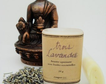 3 Lavenders Balm 10g - relaxing balm with essential oils