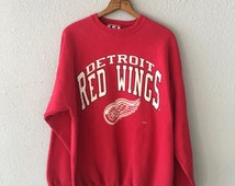 1990's Detroit Red Wings Vintage NHL Sweatshirt by Logo Athletic