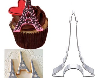 UK Seller Eiffel Tower Cookie Cutter Bread Biscuit Cake Mold Mould baking bake