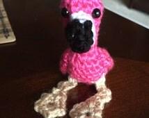 Crochet Flamingo, Little Flamingo, Flamingo Keychain, Pink Flamingo, Flamingo Amigurumi, Flamingo Plush, Mini Flamingo