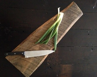 Reclaimed Wood Live Edge White Oak Cutting Board & Serving Board