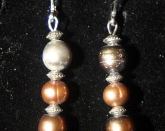 Fresh Water Pearl Tier Earrings