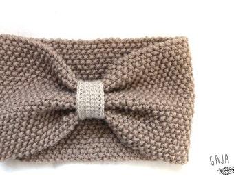 hand knitted baby head band, turban ear warmer baby headband, turban headband ear warmer, knitted head band, turban style headband