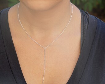Delicate Lariat Sterling Silver