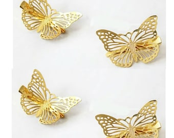 4pcs Gold Butterfly Hairpins Gold Bridal Hairpins Gold Hairpins Gold Hair pins Gold Wedding Hairpins Hair Accessories Bridal Hairwear Pins