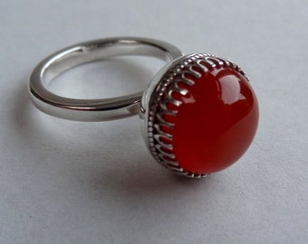 Special Ring of Sterling Silver with Carnelian