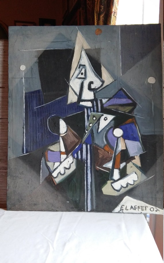 Picasso style 18x24 Oil on Canvas by Schuylerville, NY Artist Erik Laffer.