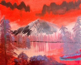 Abstract Mountain Lake