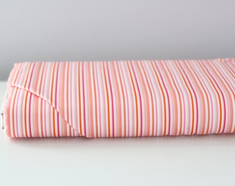 Pink and Orange Stripe By The Yard
