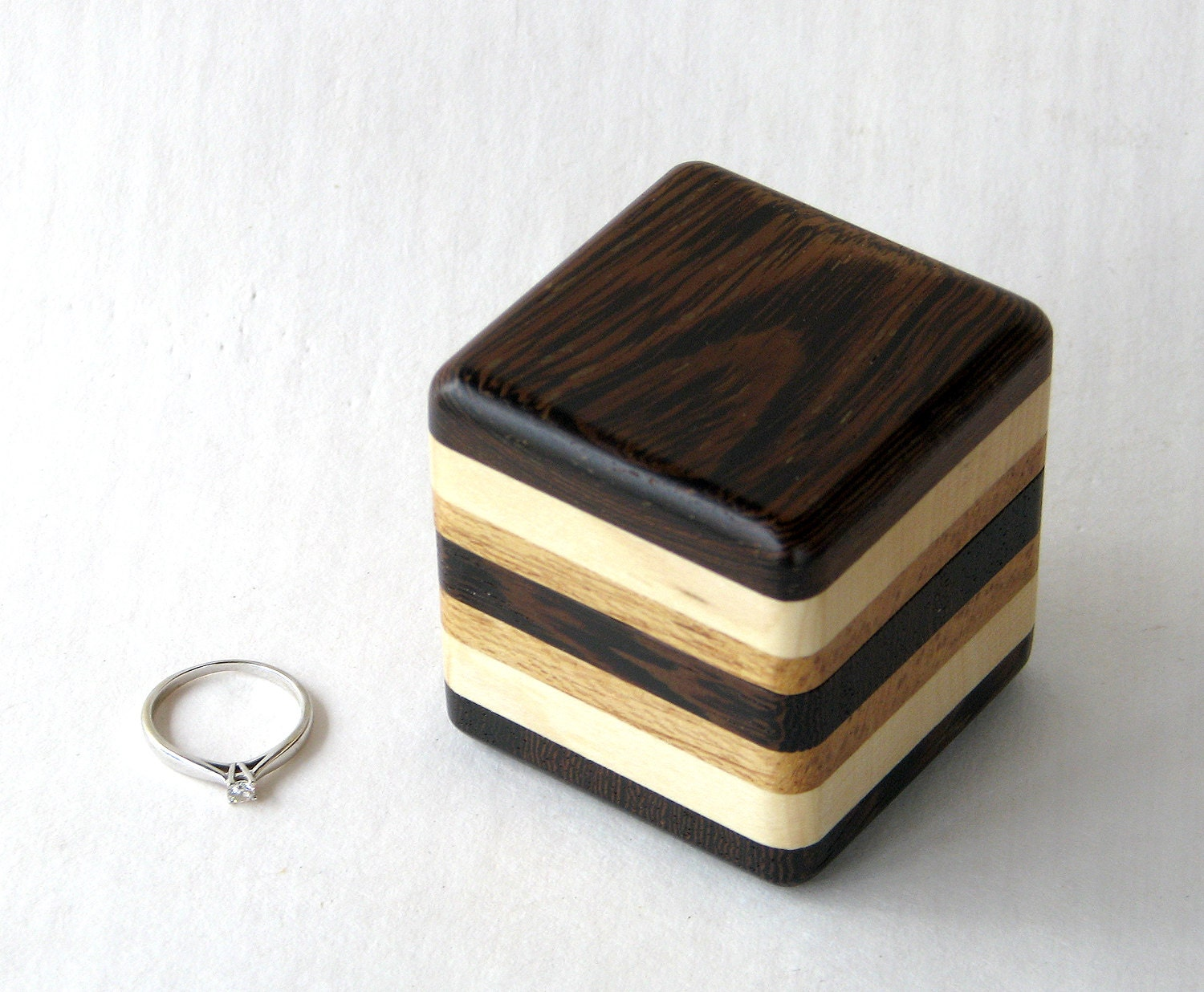 Ring box wedding ring box wood box wood engagement ring for Unique ring boxes