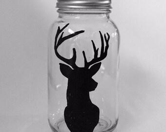 Buckhead hand painted mason jar