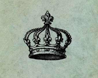 Fleur de Lys Crown - Antique Style Clear Stamp