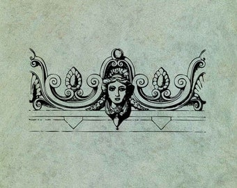 Neoclassical Greek Goddess Header Border - Antique Style Clear Stamp