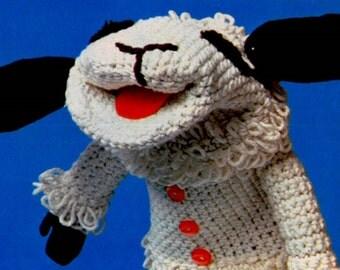 Lambchop Crochet Pattern ** Crochet Puppet ** Glove Puppet ** PDF Crochet Pattern ** Soft Toy Pattern