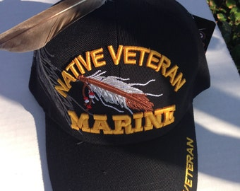 Native Veteran Marine Cap