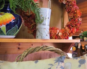 Orange Flower Wreath,Fall Wreath,Front Door Wreath