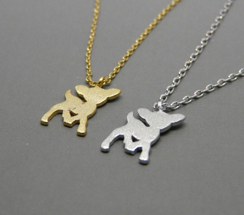 mini deer necklace necklace deer pendant charm